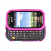 Pantech Crossover P8000 Rubberized Hard Case - Hot Pink