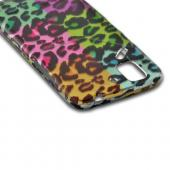 Multi-Colored Artsy Leopard Rubberized Hard Case for Pantech Flex