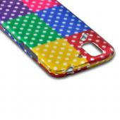 Multi-Colored Artsy Polka Dots Rubberized Hard Case for Pantech Flex