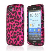 Hot Pink/ Black Leopard Rubberized Hard Case for Pantech Flex