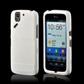 White Rubberized Hard Case for Pantech Flex
