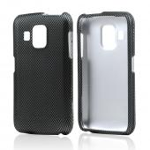 Black/ Gray Carbon Fiber Design Rubberized Hard Case for Pantech Perception