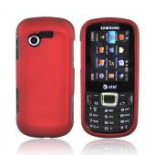 Samsung Evergreen A667 Rubberized Hard Case - Red