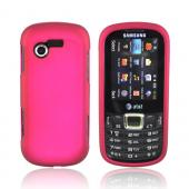 Samsung Evergreen A667 Rubberized Hard Case - Rose Pink