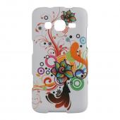 Autumn Floral Burst on White Rubberized Hard Case for Samsung ATIV S Neo