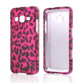 Black Leopard on Hot Pink Rubberized Hard Case for Samsung ATIV S Neo