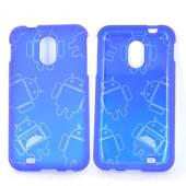 Samsung Epic 4G Touch Rubberized Androitastic Hard Case - Blue