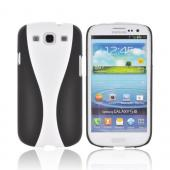 Samsung Galaxy S3 Two-Tone Rubberized Hard Case - Black/ White