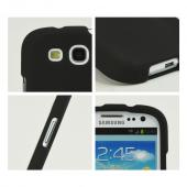 Samsung Galaxy S3 Rubberized Hard Case - Black