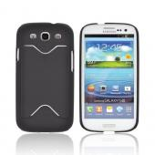 Samsung Galaxy S3 Rubberized Back Cover w/ ID Slot - Black