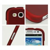 Samsung Galaxy S3 Rubberized Hard Case - Red
