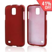 Red Rubberized Hard Case for Samsung Galaxy S4 Active