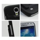 Black Rubberized Hard Case w/ ID Slot for Samsung Galaxy S4