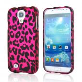Hot Pink/ Black Leopard Rubberized Hard Case for Samsung Galaxy S4