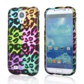 Multi-Colored Artsy Leopard Rubberized Hard Case for Samsung Galaxy S4