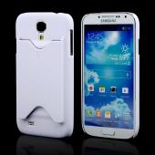 White Rubberized Hard Case w/ ID Slot for Samsung Galaxy S4