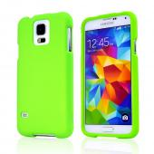 Neon Green Rubberized Hard Case for Samsung Galaxy S5