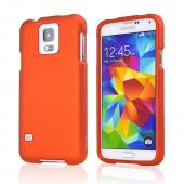 Orange Rubberized Hard Case for Samsung Galaxy S5