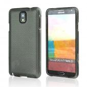 Dark Gray/ Black Carbon Fiber Design Rubberized Hard Case for Samsung Galaxy Note 3