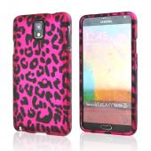 Black Leopard on Hot Pink Rubberized Hard Case for Samsung Galaxy Note 3