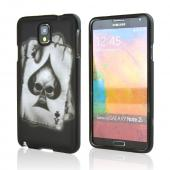 Ace Spade Skull on Black Rubberized Hard Case for Samsung Galaxy Note 3