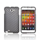 Samsung Galaxy Note Rubberized Hard Case - Carbon Fiber