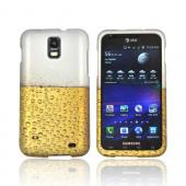 Samsung Galaxy S2 Skyrocket Rubberized Hard Case - Gold Beer