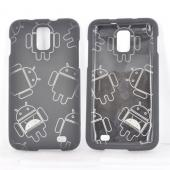 Samsung Galaxy S2 Skyrocket Rubberized Androitastic Hard Case - Black