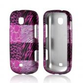 Pink Animal Print Rubberized Hard Case for Samsung Galaxy Stellar