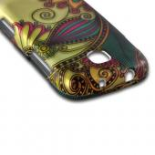 Antique Flower on Gold Rubberized Hard Case for Samsung Galaxy Stellar