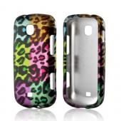 Multi-Colored Artsy Leopard Rubberized Hard Case for Samsung Galaxy Stellar