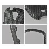 Black/ Gray Carbon Fiber Rubberized Hard Case for Samsung Stratosphere 2