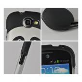Black/ Silver Panda Rubberized Hard Case for Samsung Galaxy Express