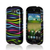 Rainbow Zebra on Black Hard Case for Samsung Galaxy Express