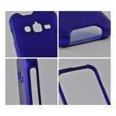 Blue Rubberized Hard Case for Samsung Galaxy Rugby Pro