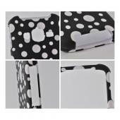 White Polka Dots on Black Rubberized Hard Case for Samsung Rugby Pro