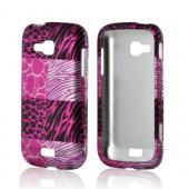 Pink Animal Print Rubberized Hard Case for Samsung ATIV Odyssey