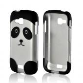 Black/ Silver Panda Rubberized Hard Case for Samsung ATIV Odyssey