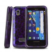 Samsung Captivate Glide i927 Rubberized Hard Case - Purple/ Black Leopard
