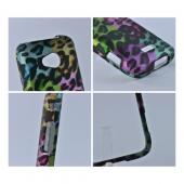 Samsung Galaxy Victory 4G LTE Rubberized Hard Case - Multi-Colored Artsy Leopard