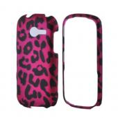 Samsung Array M390 Rubberized Hard Case - Hot Pink/ Black Leopard