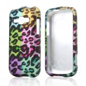 Multi-Colored Artsy Leopard Rubberized Hard Case for Samsung Galaxy Ring/ Galaxy Prevail 2