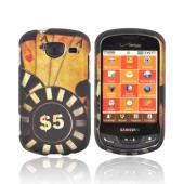 Samsung Brightside Rubberized Hard Case - Black/ Gold Aces Poker