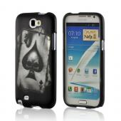 Ace Skull on Black Rubberized Hard Case for Samsung Galaxy Note 2