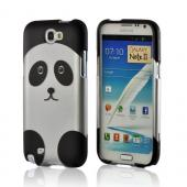 Silver/ Black Panda Rubberized Hard Case for Samsung Galaxy Note 2