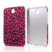 Black Leopard on Hot Pink Rubberized Hard Case for Samsung Galaxy Note 8.0