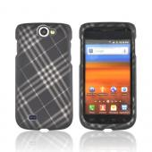 Samsung Exhibit 2 4G Rubberized Hard Case - Gray Plaid on Black