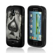 Ace Skull on Black Rubberized Hard Case for Samsung Galaxy S Relay 4G