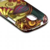 Antique Flower on Gold Rubberized Hard Case for Samsung Galaxy S Relay 4G