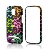 Multi-Colored Artsy Leopard Rubberized Hard Case for Samsung Galaxy S Relay 4G